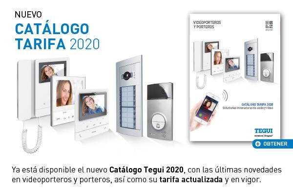 Nuevo Catálogo Tarifa Tegui 2020, videoporteros y porteros