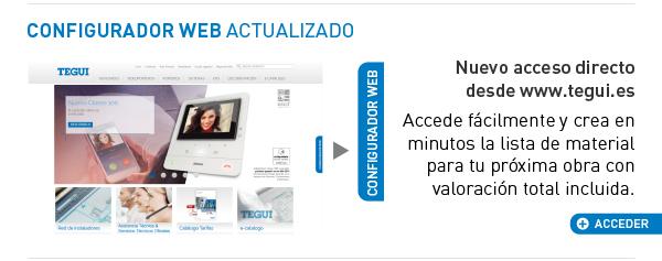 Configurador Web Tegui , has tu valoración de material para videoporteros y porteros