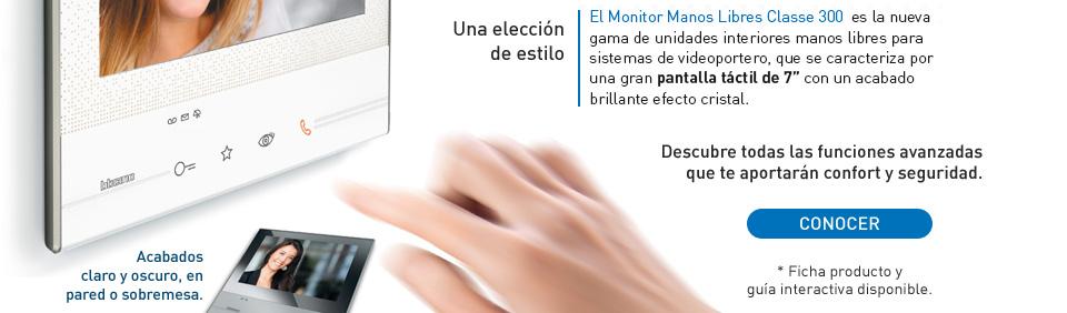 Unidades interiores manos libres Classe 300, de Tegui